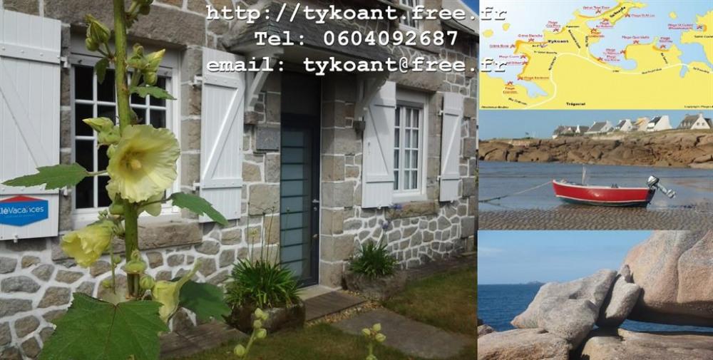Maison en granit, proximité plages et chemins de r