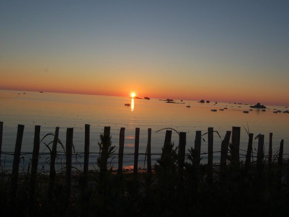 coucher de soleil vue du séjour