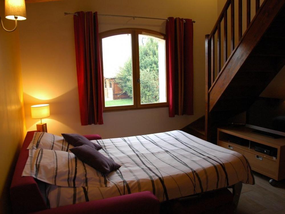 Chambre 1 - vue 2 - lit en 140 cm