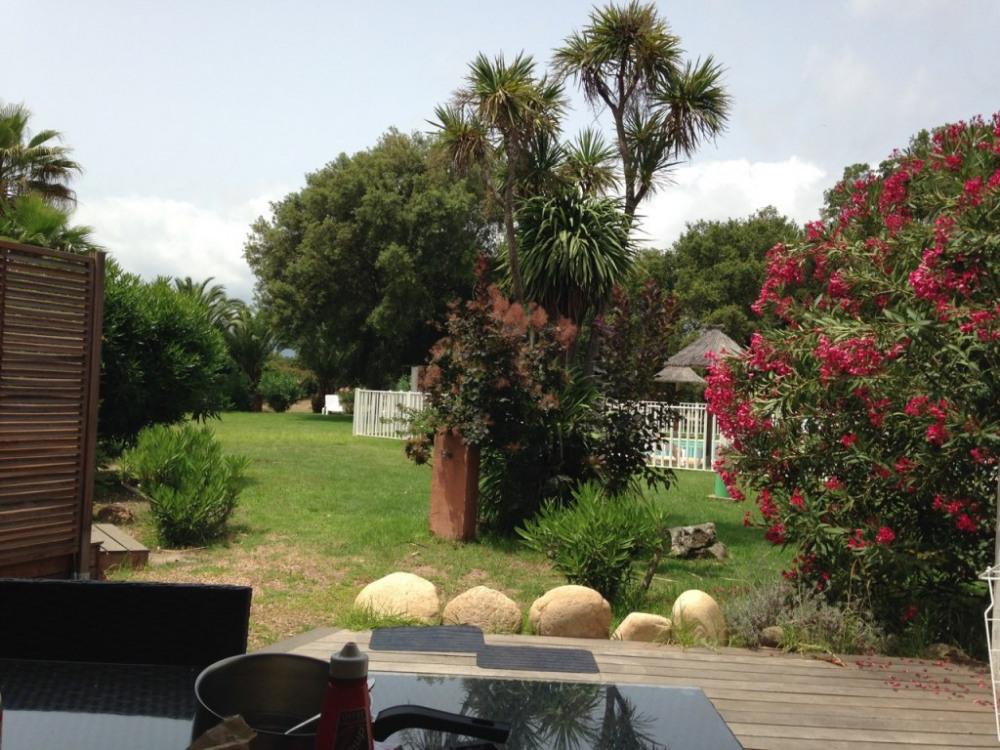 résidence vue de la terrasse