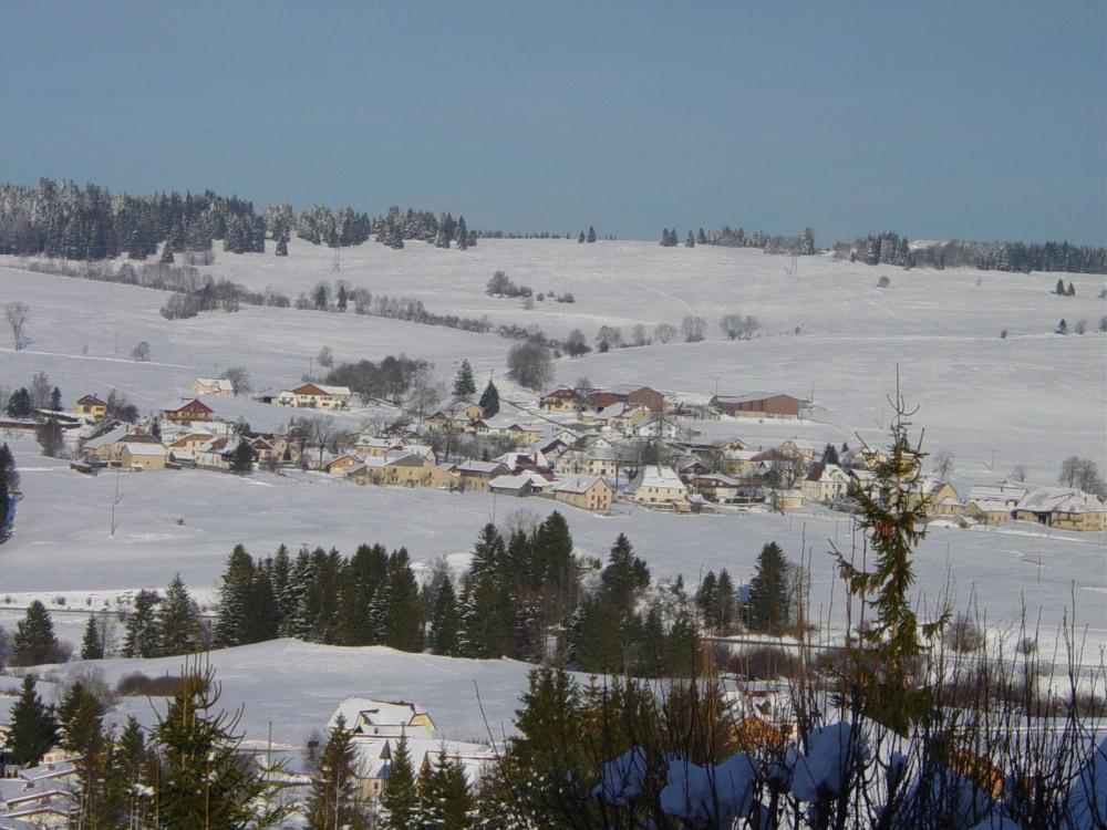 panorama vu du chalet