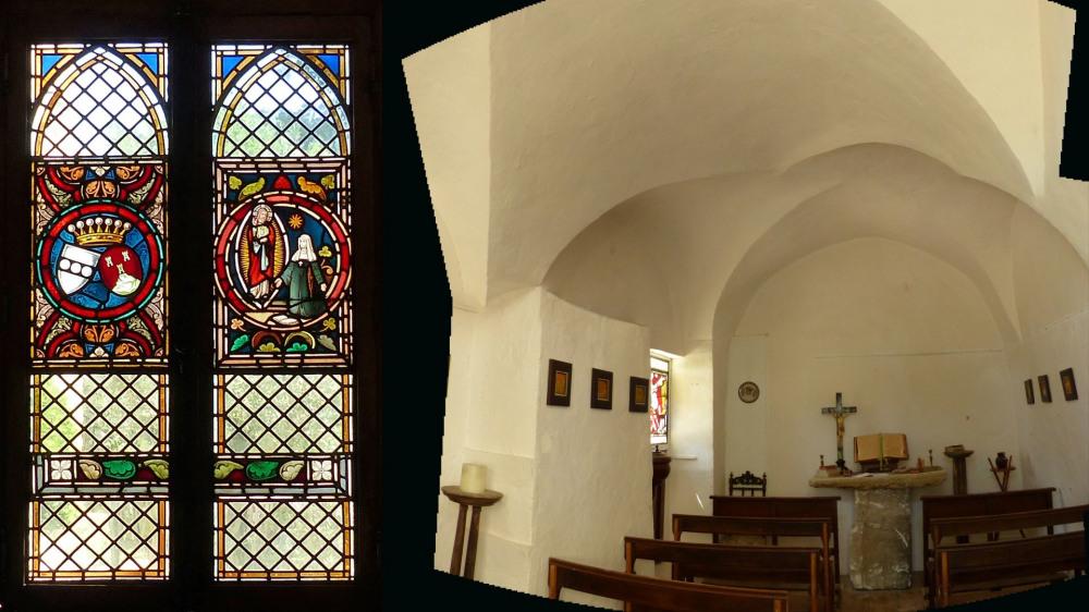 La chapelle et son vitrail