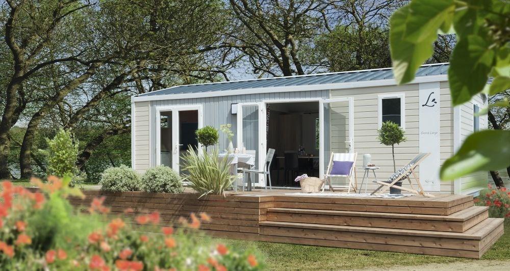 Mobil-home Atlantic (4 personnes) - Le camping 3 étoiles le Domaine de Pont-Mahé vous propose pour vos vacances de la...