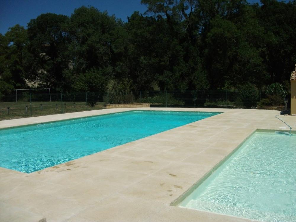 Vue des deux piscines