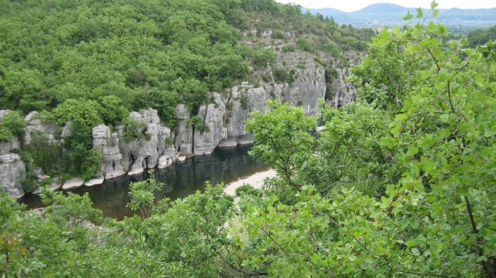 les gorges du Chassezac et le bois de Paîolive
