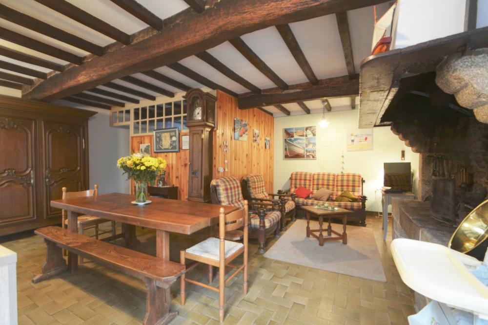 salle salon avec cheminée en granit