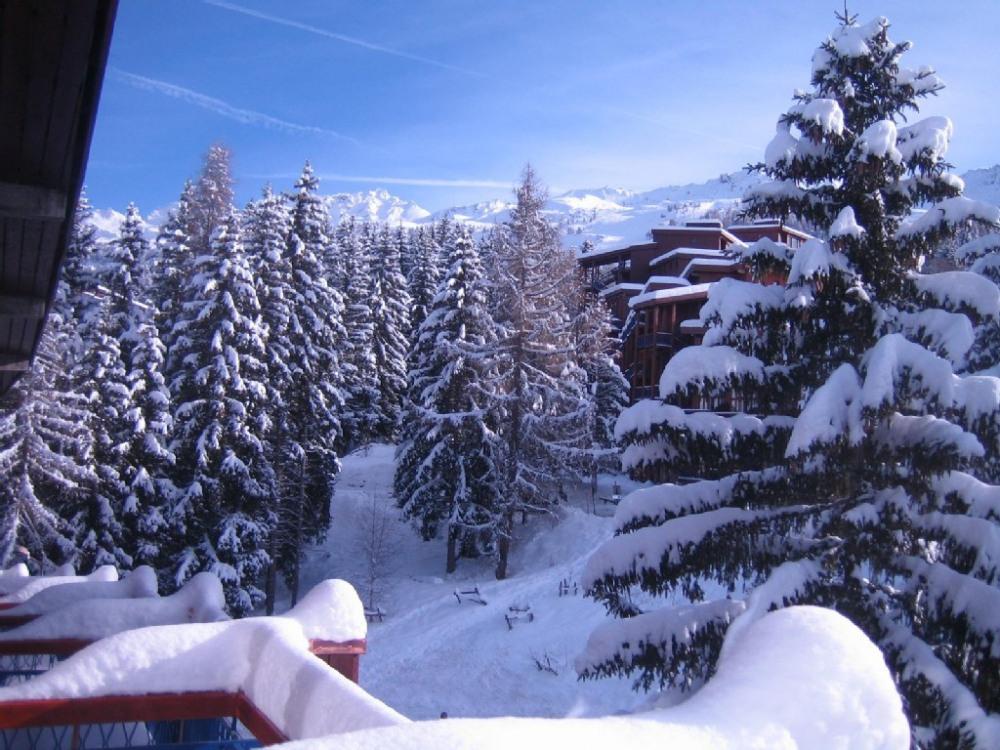 Dans le balcon, apres des chutes de neige