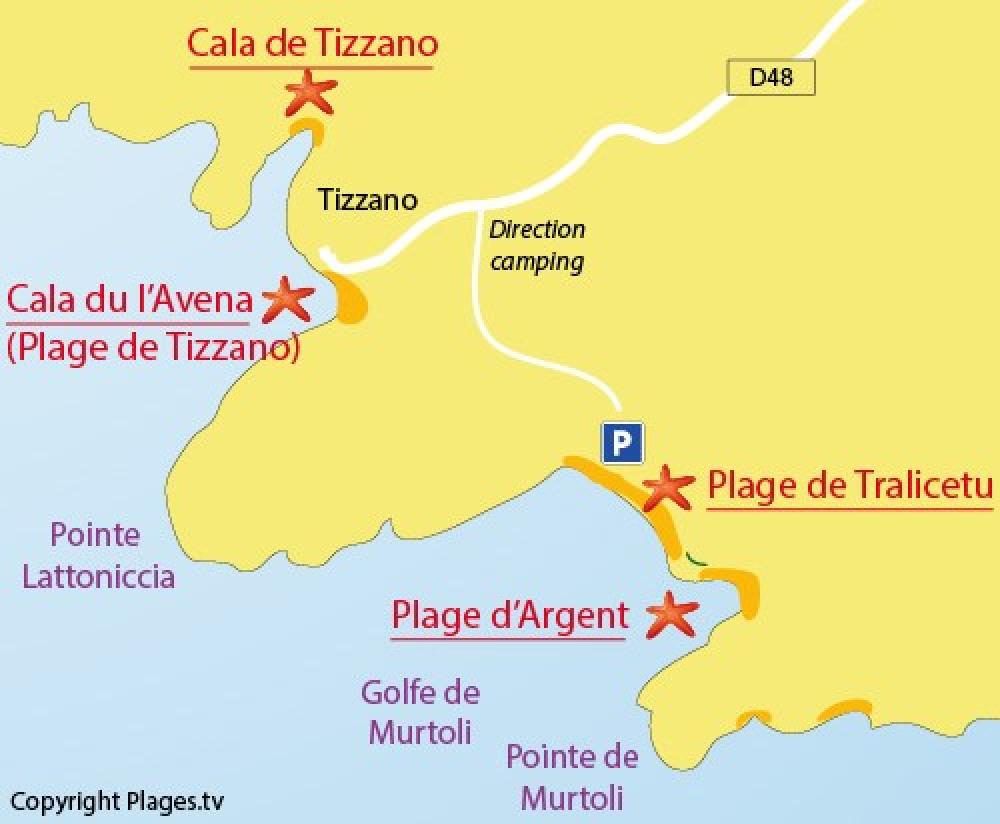 localisation de la  baie de Tizzano