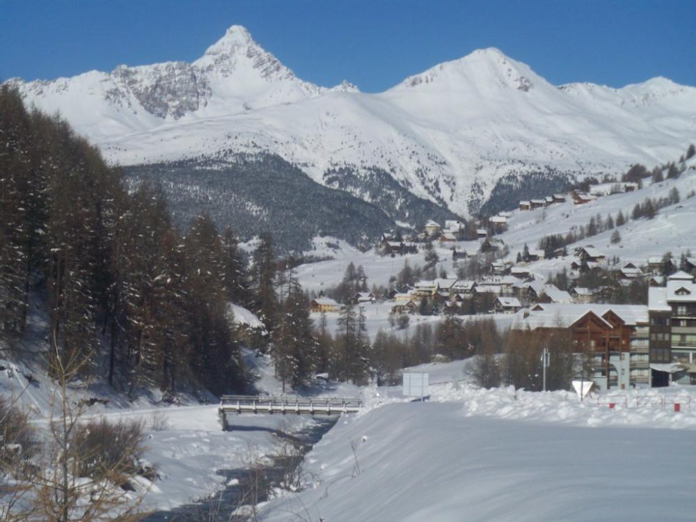 vue sur la station de skis