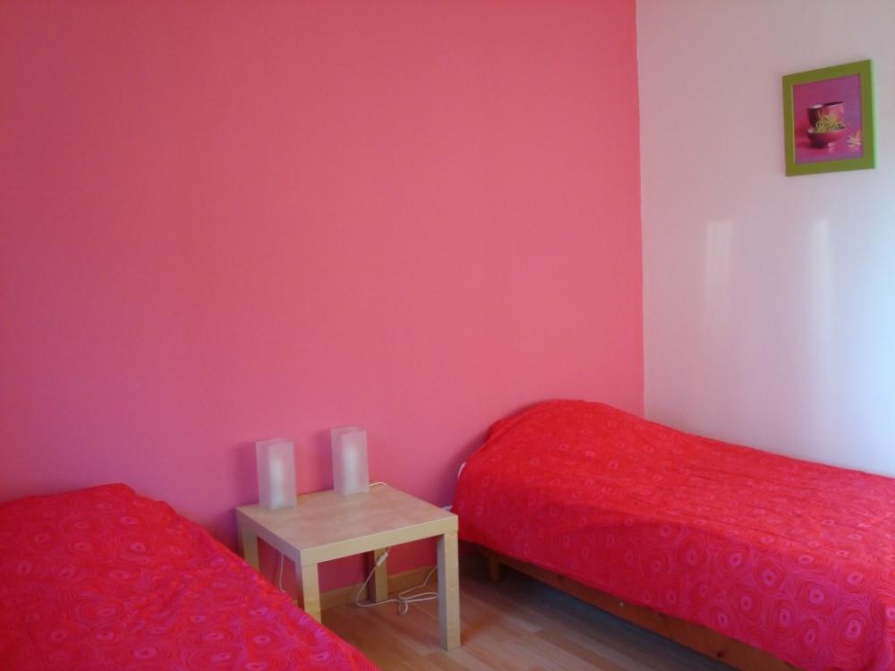 Chambre rose 2 lits 90cm