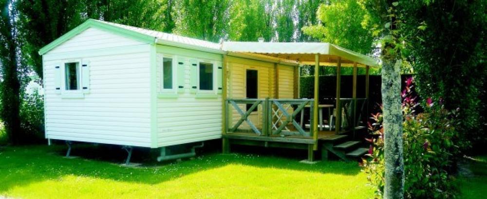 Camping La Mouette Cendrée - Mh Grand Confort 2Ch 4/6pers + Terrasse Bois