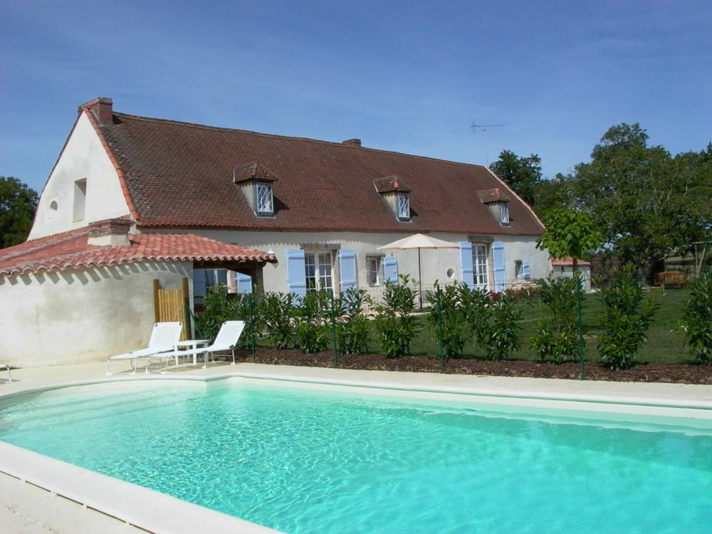 Gîte la Tuilerie vue piscine