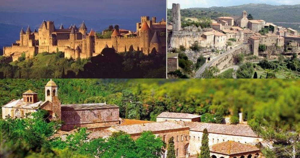 Cité de caracssonne, Minerve, Abbaye de Fontfroide