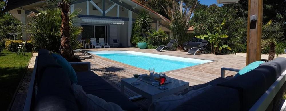 Villa pour 8 pers. avec piscine privée, Vieux-Boucau-les-Bains