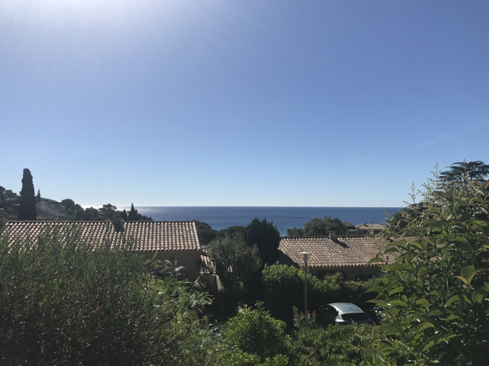 Belle vue mer depuis la terrasse