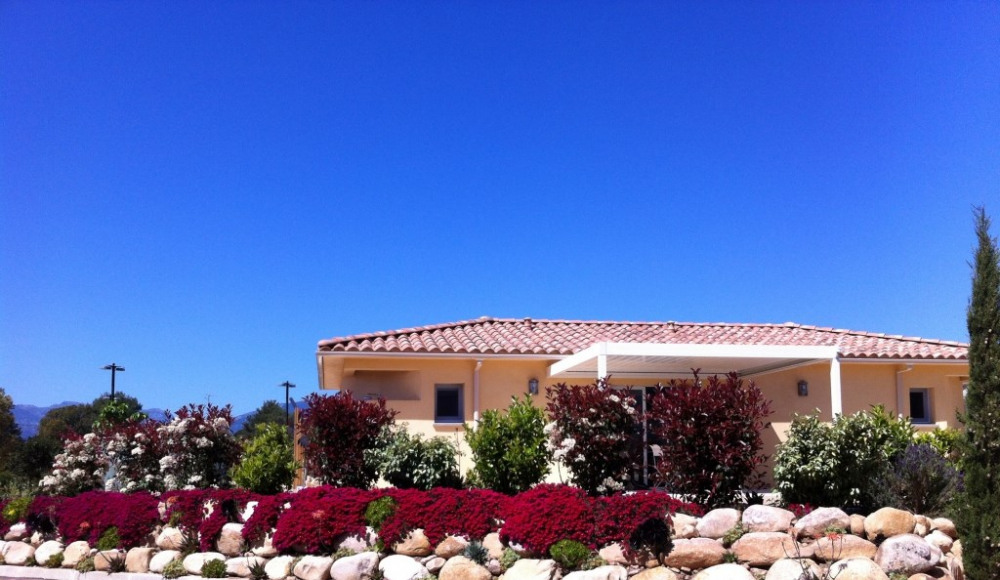 Villa côté Est, Vue jardin