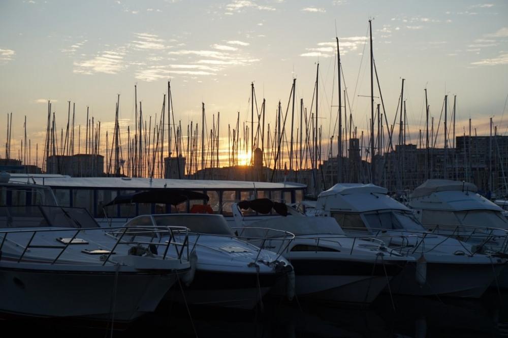 coucher de soleil sur les pannes