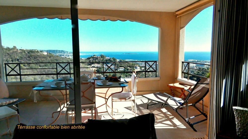Vue Mer Superbe, 3P, 70m², calme, Piscine, clim, Garage, Wifi, Proche de Cannes