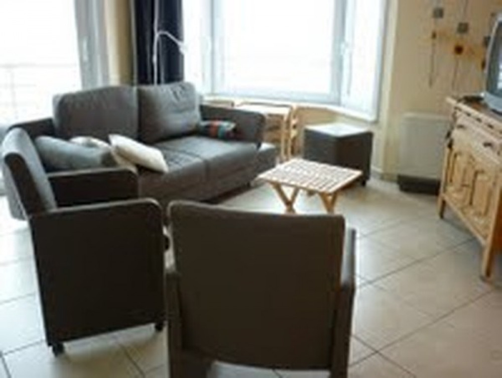 Ostende appartement sur la digue avec vue sur mer