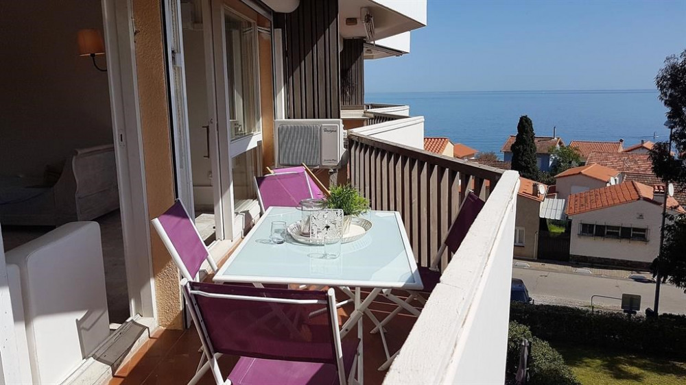 terrasse équipée salon de jardin, transats, BBQ