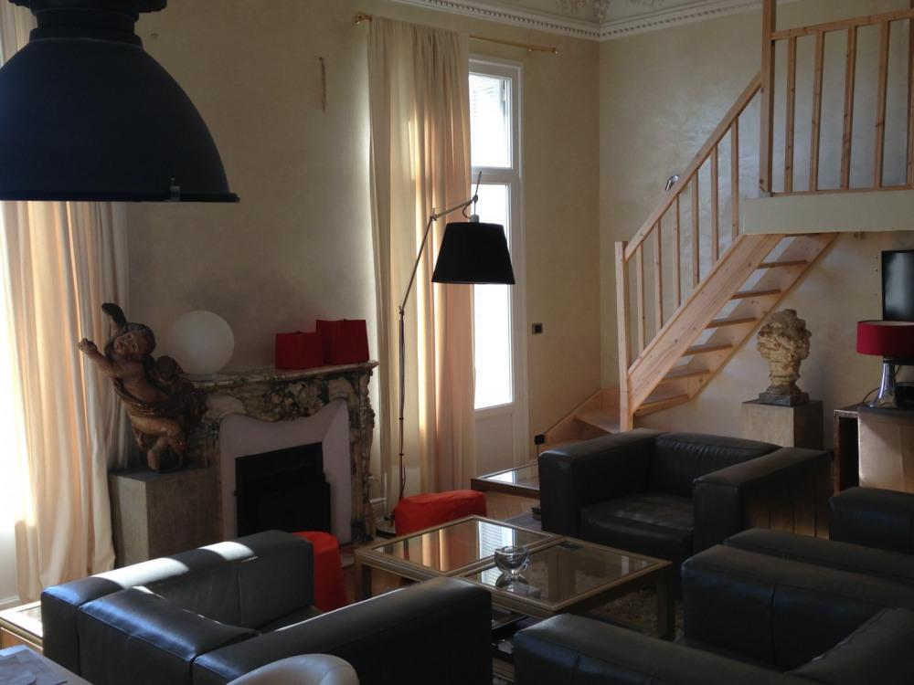 l'escalier vers la chambre mezzanine 2 lits indépendants