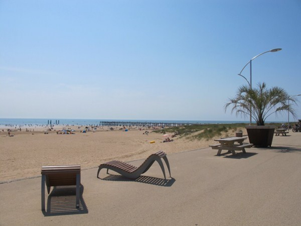 La plage de l'estacade