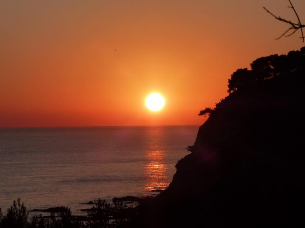 Coucher du soleil en decembre
