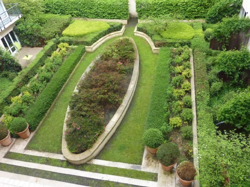 jardin vu du sejour