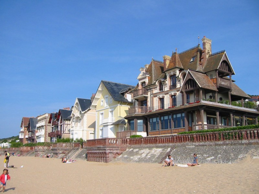 View of the beach front properties