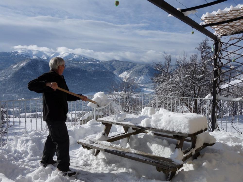 terrasse en hiver