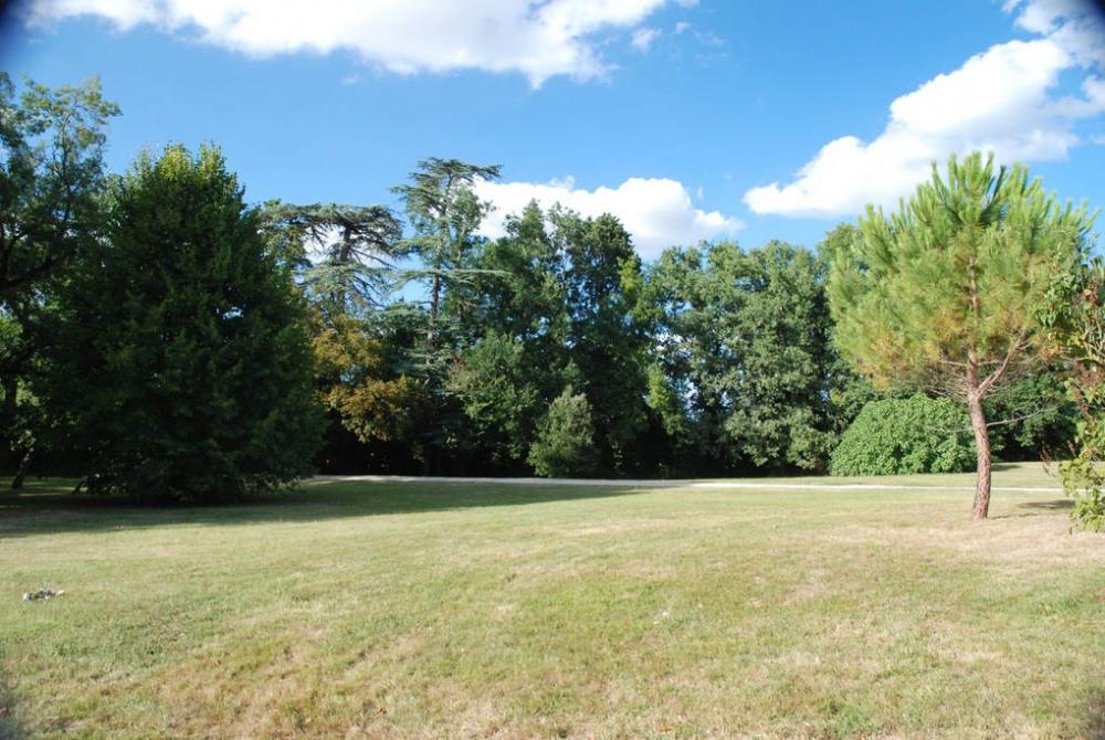Le parc avec promenades en sous bois