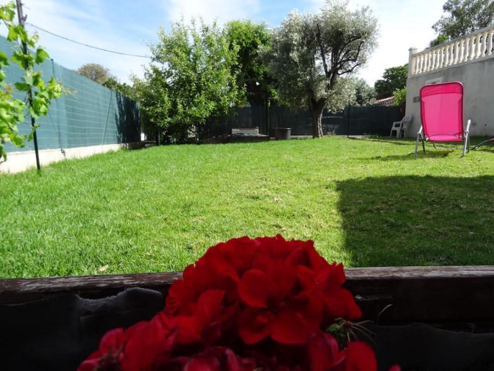 Vue du jardin clos et securisé