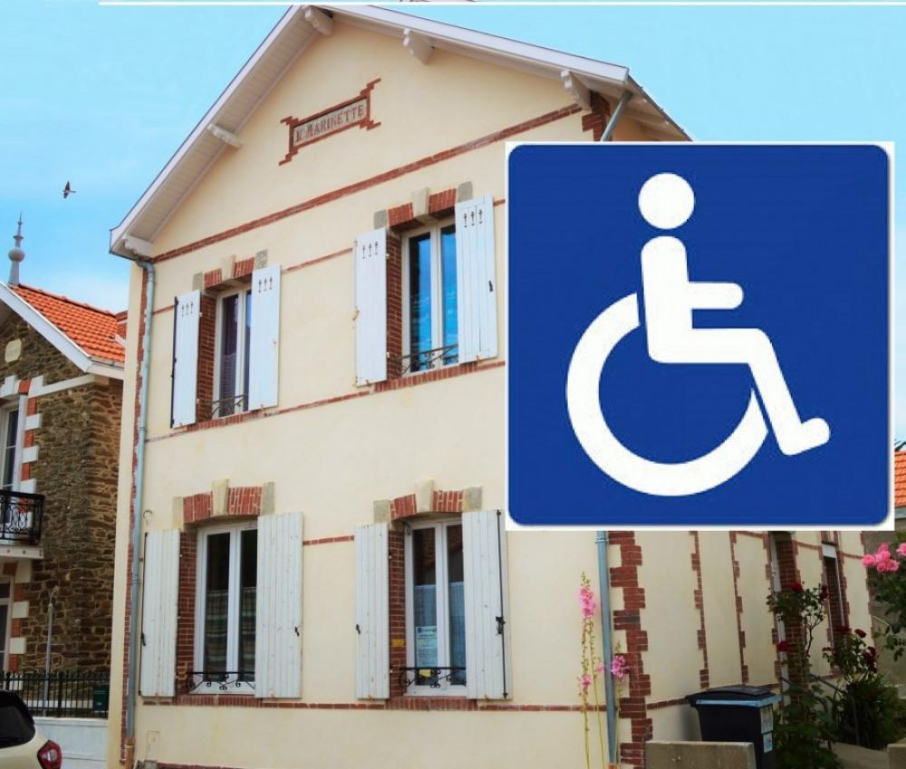 rez de chaussée adapté pour fauteuil