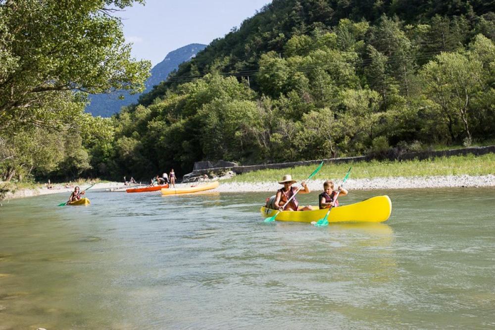 Descente en canoé ou kayak de la rivière Drôme