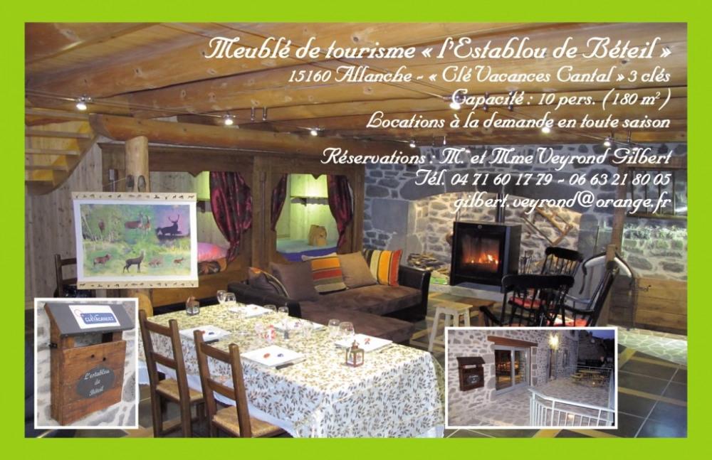 Belle Maison Auvergnate- Meublé de tourisme 4 Etoiles