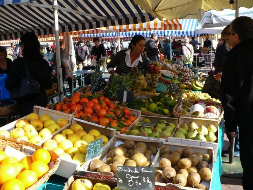 Local market scene