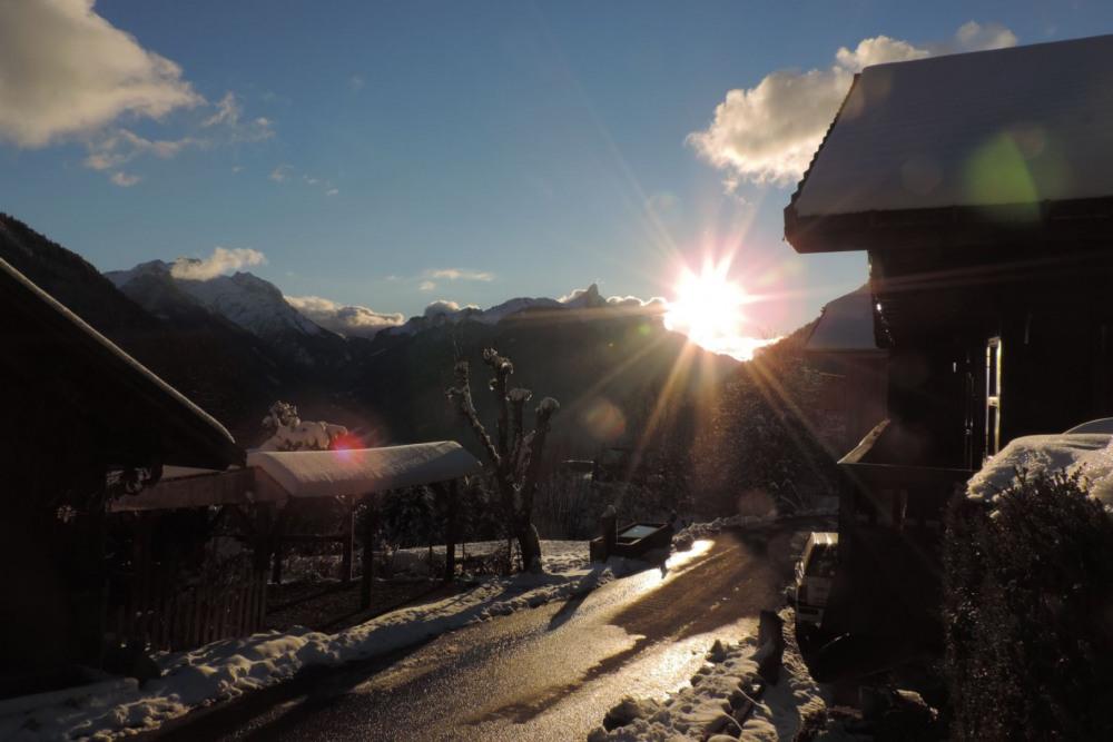 coucher de soleil en décembre