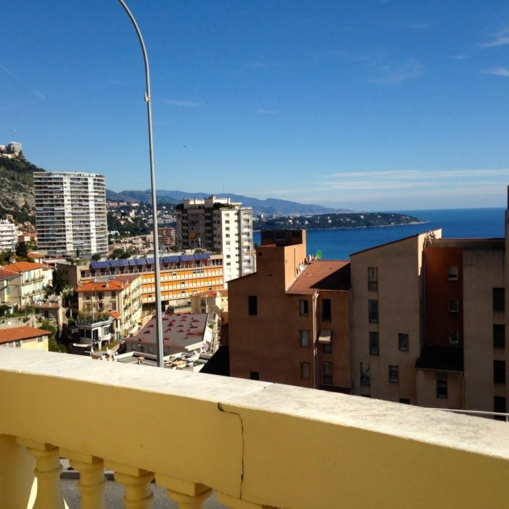 la vue de la terrasse vers l'Italie