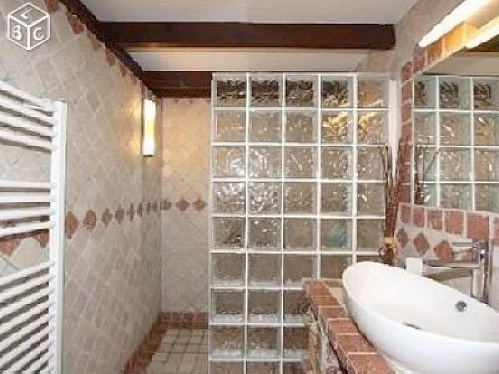 Salle de bains, douche à l'italienne