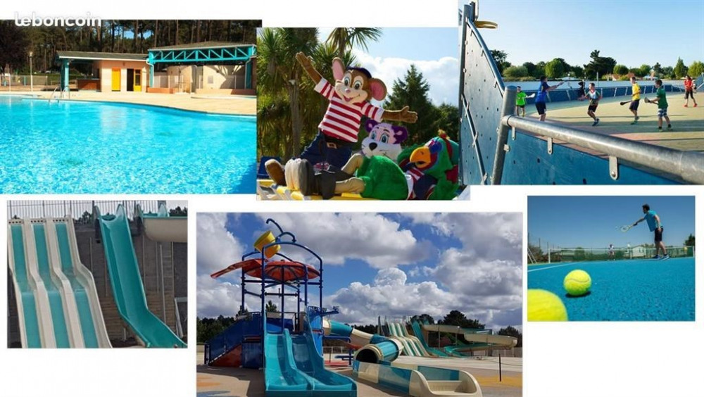 Mobil Home pour 8 pers. avec piscine, Saint-Julien-en-Born