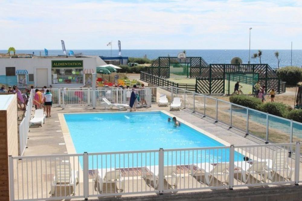 Camping L'Atlantys - Mobil home Vue mer sur terrasse 2 chambres Grand Confort (radiateurs dans to...