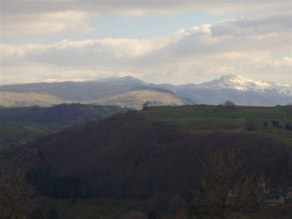 Le Puy Mary vu de la terrasse