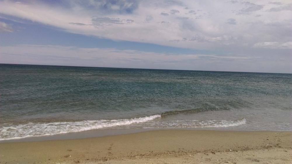 sur la mer calmée...