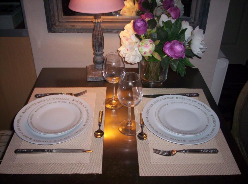 table belle vaisselle