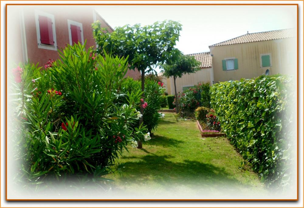 Espace vert face à la maison