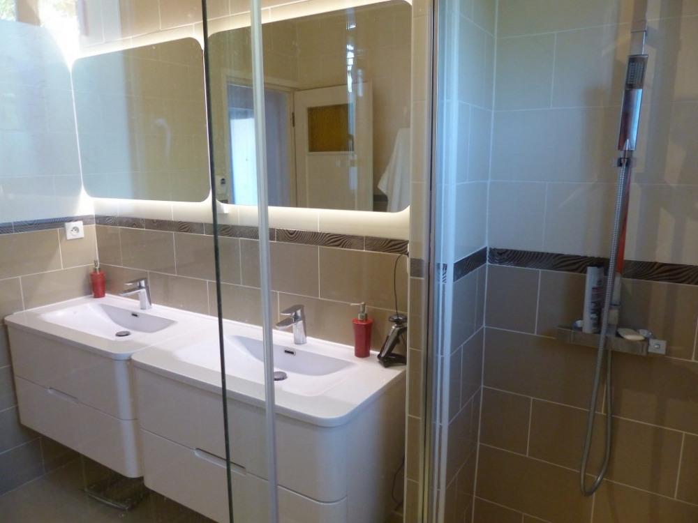 La salle de bains N°1 vue de la douche