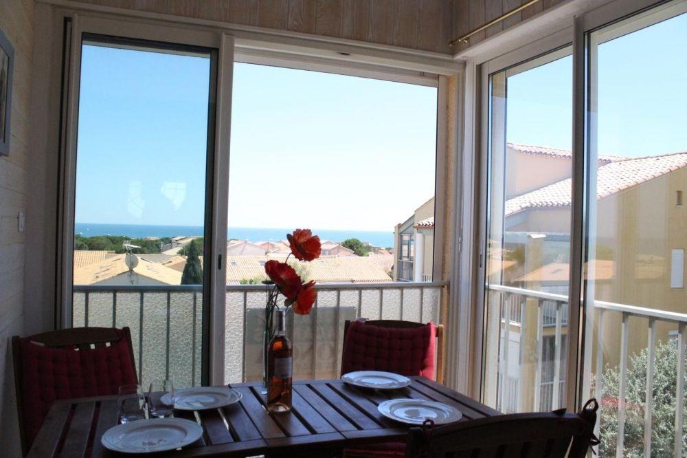 Saint Pierre la Mer (11) - Quartier de la Vigie - Résidence Santa Marina. Appartement 2 pièces ca...