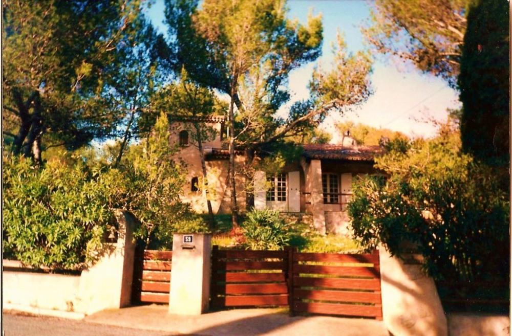 la maison au milieu des pins