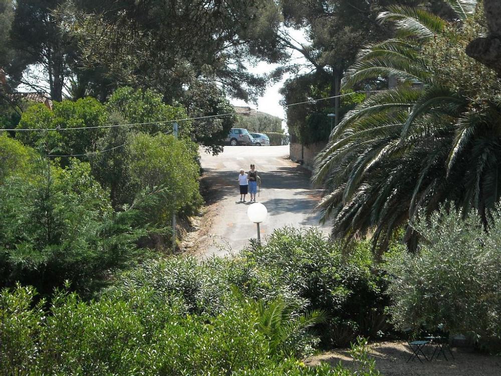 L'environnement devant la villa, calme et douceur....