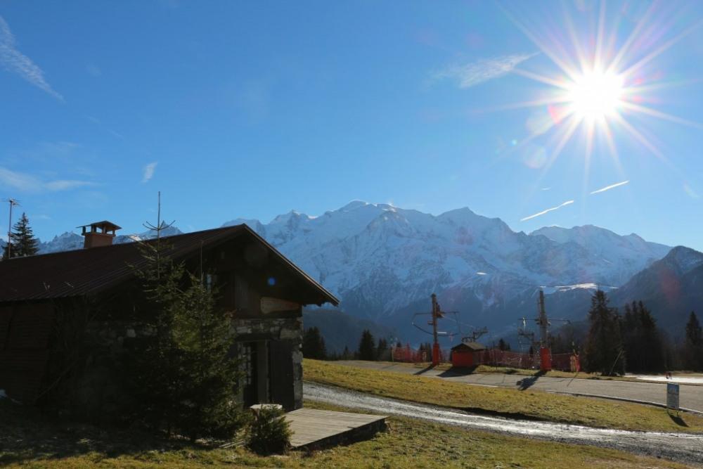La Povotte et le Mont-Blanc